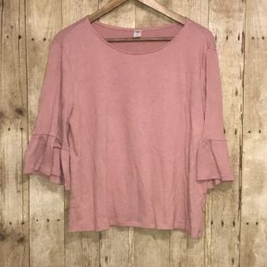 Old Navy Pink Bell Sleeve Top